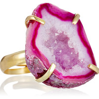 Pink Geode Drusy Ring, Stone & Novelty Rings