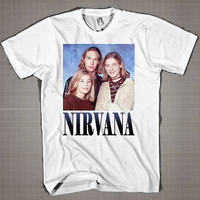 Nirvana Hanson  Mens and Women T-Shirt Available Color Black And White