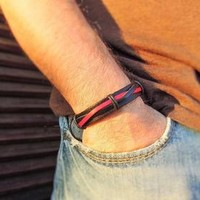 mens bracelets, mens leather bracelet