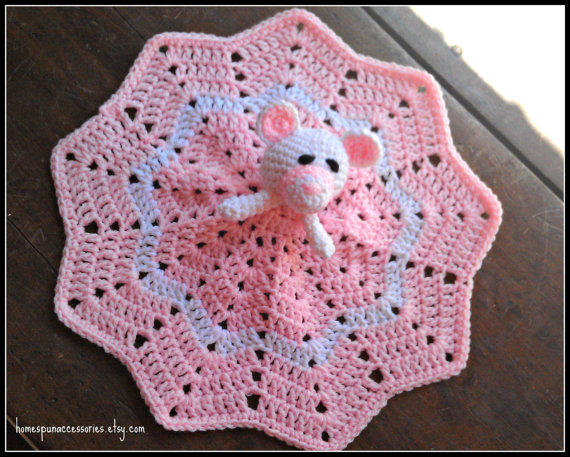 Maggie Bear Mini Lovey Corchet Baby From Homespun Accessories