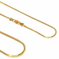 """1-1582-1-E12 Gold Layered Snake Chain, 2mm link, 20"""" necklace,"""