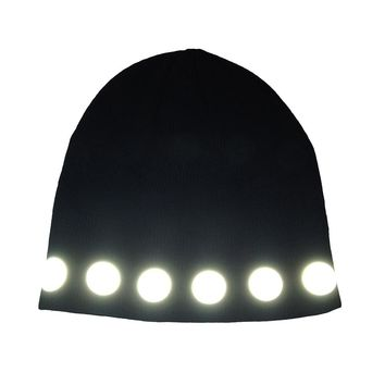 reflective circles watch cap
