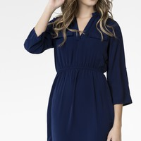 Royal blue tunic dress