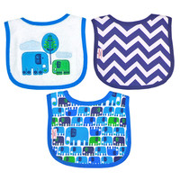 Happy Chic Baby By Jonathan Adler 3 Pack Drooler Bib Set-Elephant