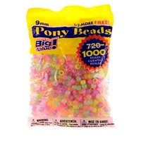 Darice Value Pack Pony Bead, 9mm, Glow in The Dark, 1000-Pack