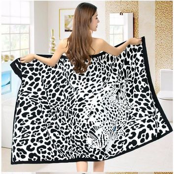 New 100 x 180cm Super-absorbent Beach Towel for Adult Soft Microfiber Environmental Printing Bath Swimming Poolside Wrap Blanket