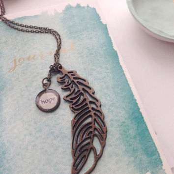 Feather Necklace/Hope Feather Necklace/Hope Necklace