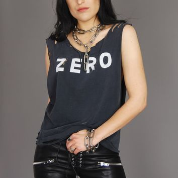 Zero Thrashed Cutoff Muscle Tee