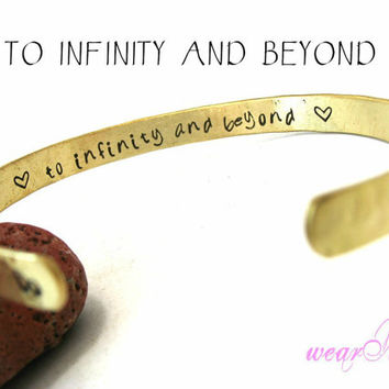 To Infinity and Beyond Personalized BraceletHand by keepWEARME