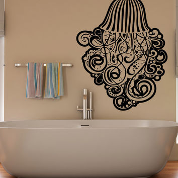 Vinyl Wall Decal Sticker Jellyfish Tentacle Swirls #5341