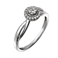 Cherished Promise Collection™ 1/10 CT. T.W. Diamond Frame Promise Ring in Sterling Silver - Size 6