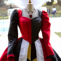 Queen of Hearts Villains Custom Costume Dress Gown by Bbeauty79
