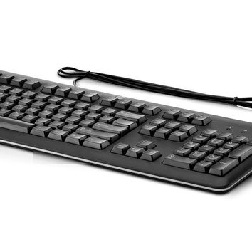 HP Keyboard Wired USB English Black QY776AT#ABA