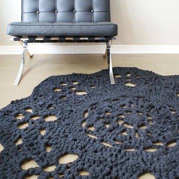 "Crochet PATTERN - Throw Blanket / Rug Super Chunky Doily 8 Styles (30""-66"" diameter) (blanket003)"