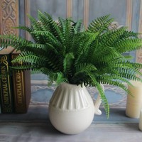 7 Branches Green Fake Lifelike Plants Floral Decor Artificial Persian Leaves Leaf Grass Flower Garden Decoration