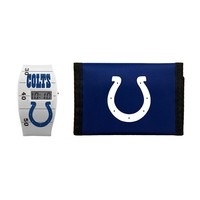 Indianapolis Colts Lil' Sport Watch & Trifold Wallet Gift Set - Kids (Clt Team)