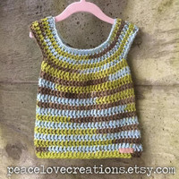 Crochet Baby Dress~Ready to Ship~FREE SHIPPING
