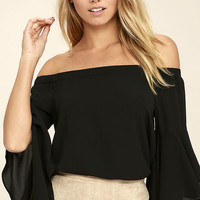 Soul Sisters Black Off-the-Shoulder Top