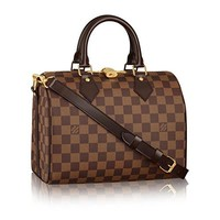 Speedy Bandouliere Style Damier 25 cm Canvas Crossbody Handbag for Women Perfect for Daily Uses