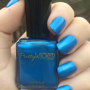 Metallic Blue Nail Polish