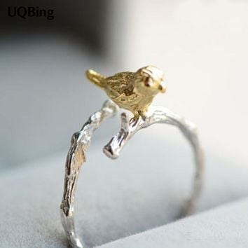 New Arrivals 925 Sterling Silver Rings Bird Ring For Girl Women Gift Jewelry