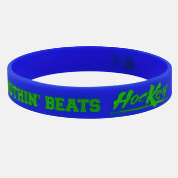Nothin' Beats Hockey Blue Motivational Wristband