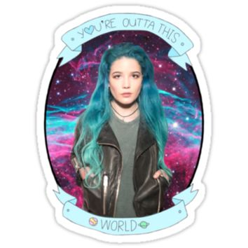 Halsey You're Outta This World Galaxy by Glampagne