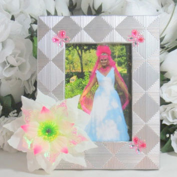 Gifts - Girls Birthday Gifts - Bridesmaid Gift - Silver Frame - Butterfly Gift - 4x6 Frame - Gifts For Her - Bride Gift - Gifts Under 25