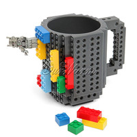 Creative Gray DIY Brick Leggo Mug 12oz