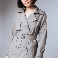 Olive Green Trench Coat Khacki Outwear Trenchcoat Trench Coat Women Ladies Trench Coats