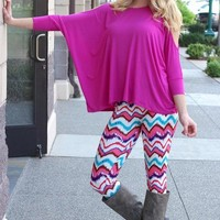 Waves of Chevron Print Leggings