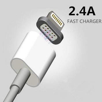 2.4A Magnetic Micro USB Charging Cable For Android And IPhone 7 6s 5 5s 6sPlus