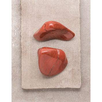 Red Jasper Palm Stones - Set of 2