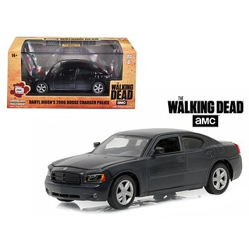 """Daryl Dixon\'s 2006 Dodge Charger Police \""""The Walking Dead\"""" TV Series (2010-Current) 1/43 Diecast Model Car by Greenlight"""