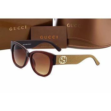 GUCCI 2018 new double G fashion wild sunglasses sunglasses F-AJIN-BCYJSH #5
