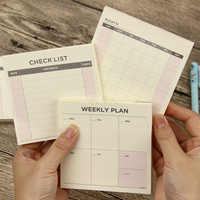 1 Pcs Cute Kawaii Weekly Monthly Work Planner Book Diary Agenda Filofax For Kids School Supplies