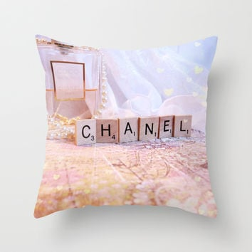 Chanel Romance Throw Pillow by Briana Berrie
