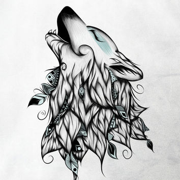 The Wolf Art Print by LouJah