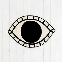Magical Thinking Eye Rug- Black & White One
