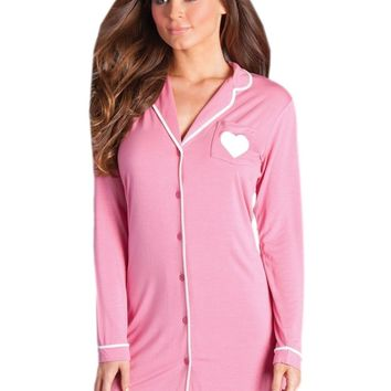 Be Wicked  BW1701DP Stacey Nightshirt, also in Plus Sizes
