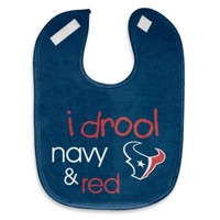 "NFL ""I Drool Navy & Red"" Houston Texans Mesh Bib"