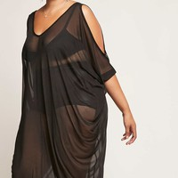 Plus Size Mesh Maxi Dress