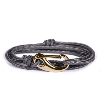 Gray + Gold Tactical Cord Men's Bracelet