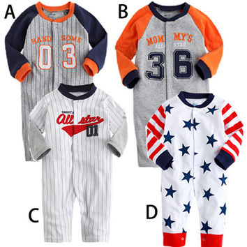 Kids Boys Girls Baby Clothing Toddler Bodysuits Products For Children = 4451391876