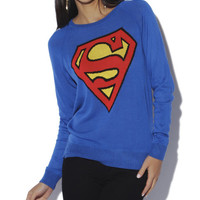 Superman Fine Gauge Sweater - WetSeal