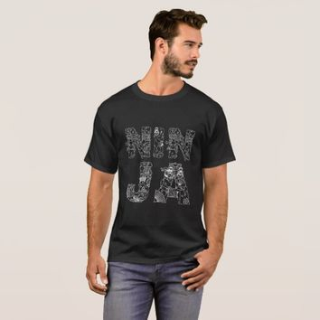 Ninja unique decorative text black T-Shirt