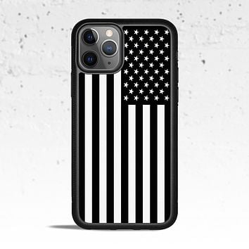 Black & White American Flag Phone Case Cover for Apple iPhone Samsung Galaxy S & Note
