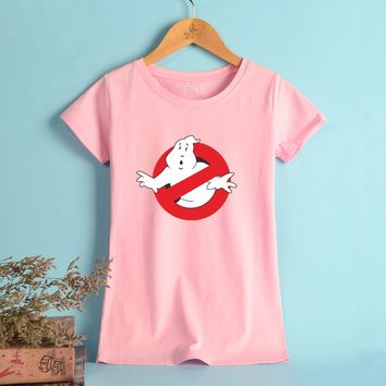 NEW Ghostbusters T-shirt Women Printing Elastic T Shirt Women Short Fashion Ladies Streetwear Tops Tee Shirt Women Plus Size
