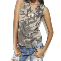 Camouflage Pocket Shirt | Shop Just Arrived at Wet Seal