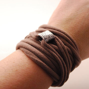 TUBE charm Wrap Wrist Cuff TAUPE Stretch Wrist Bracelet Fashion accessory Women Teens Wrist Tattoo Cover